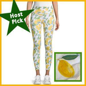 Nanette Lepore Lemon-Print Cropped Leggings
